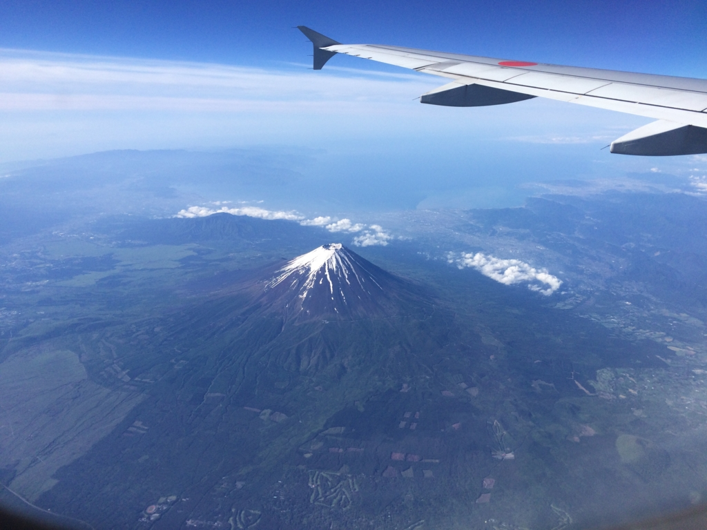 Mount Fuji seen from the ANA plane