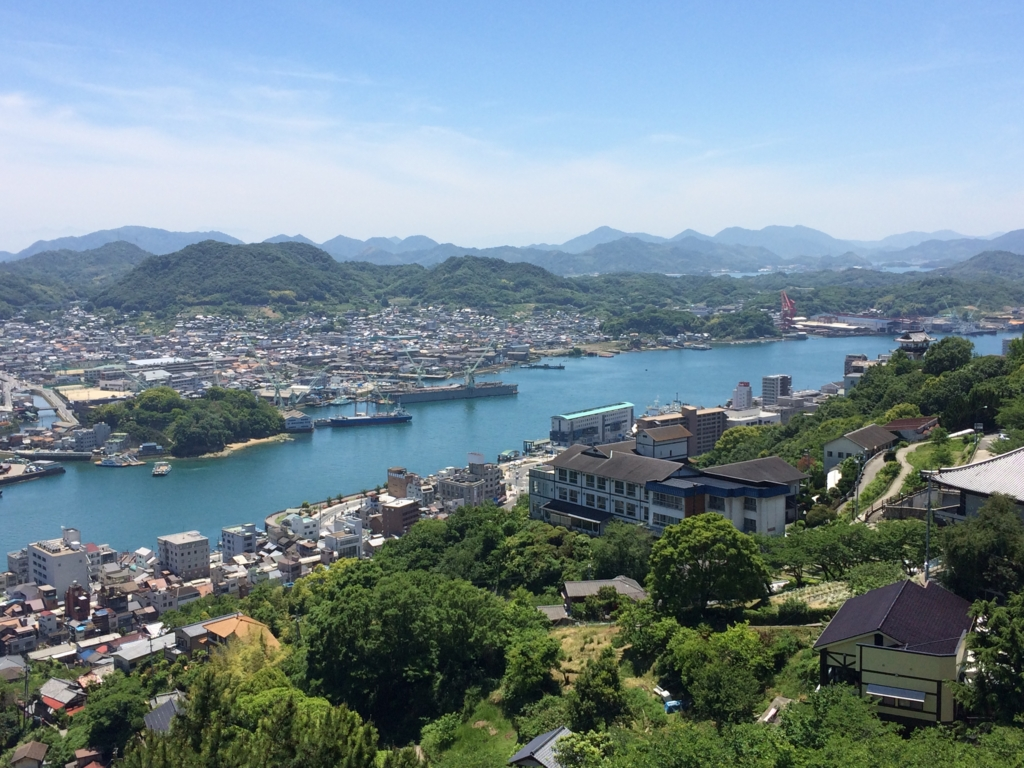 View from the Temple in the ANA plane Onomichi