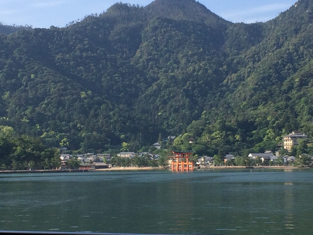 At a mile, ferry from Miyajima